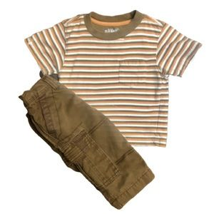 OLD NAVY Cargo Pants and Matching Striped T-shirt
